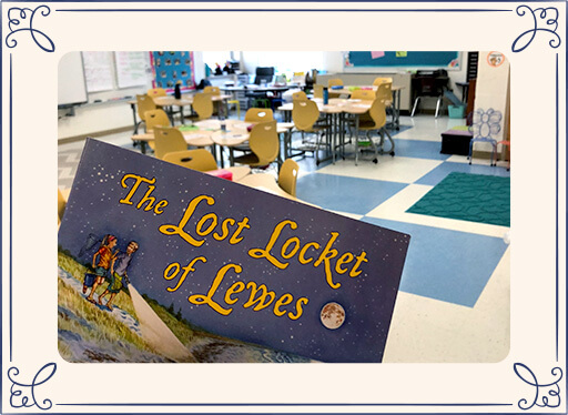 The Lost Locket of Lewes book in classroom