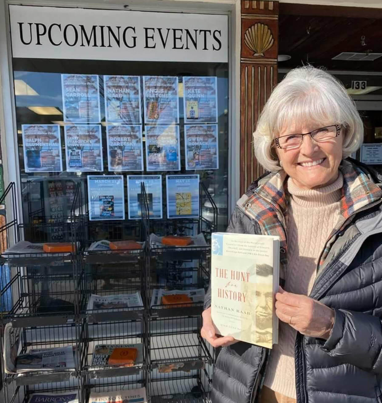 Ilona with the book The Hunt for History
