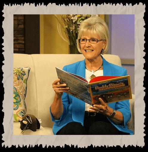 Ilona E. Holland reading Buddy Bison's Yellowstone Adventure